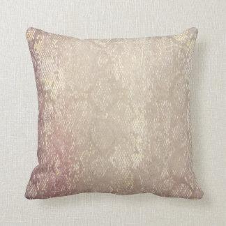 Modern Grunge Snake Skin Animal Pattern Cushion Pillow