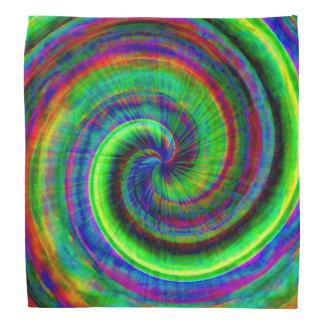 Modern Grunge Spiral Rainbow Tie Dye Bandana