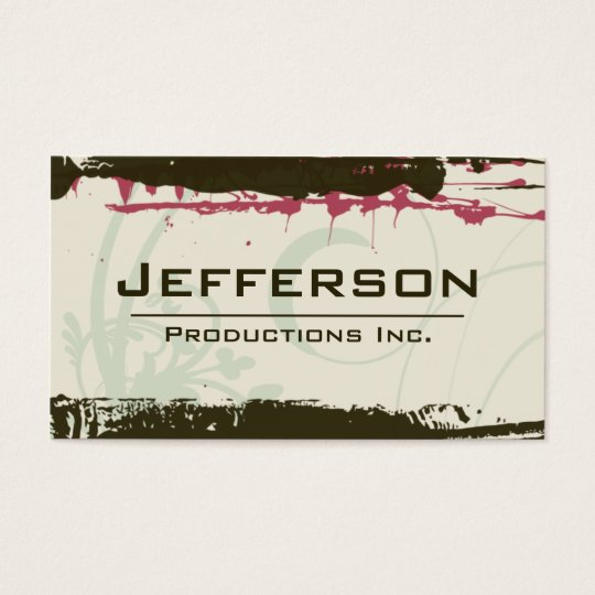 Modern Grunge Style Company Business Card