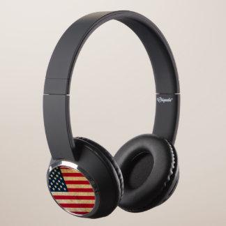 Modern Grunge USA Flag Headphones