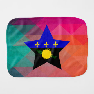 Modern Guadeloupe Flag Baby Burp Cloths