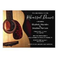 Modern Guitar Musical Rehearsal Dinner Invitation