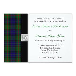 Modern Gunn Tartan Wedding Invitation
