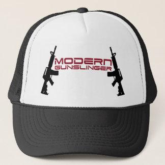 Modern Gunslinger Design by U.S. Custom Ink Trucker Hat