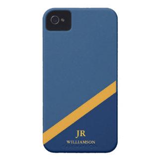 Modern Guy Navy Blue iPhone4 Case-Mate™ iPhone 4 Case-Mate Case