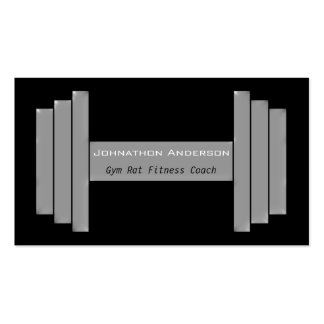 Modern Gym Rat Personal Fitness Coach Business Card Template