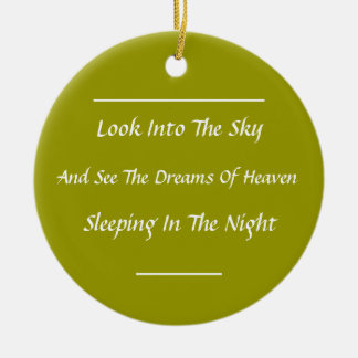 Modern Haiku Gift Ornament (Mod)