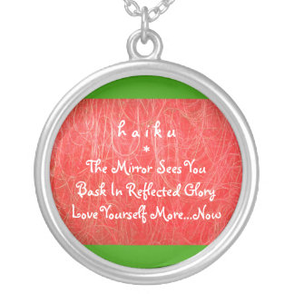 Modern Haiku Necklace
