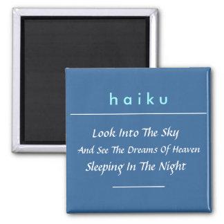 Modern Haiku Refrigerator Magnet  (Square)