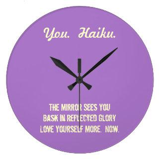 Modern Haiku Round Wall Clock