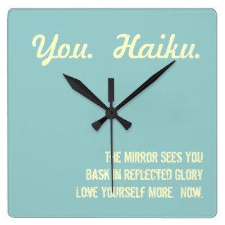 Modern Haiku Wall Clock