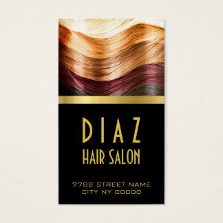 Modern Hair Salon Stylist Business Card