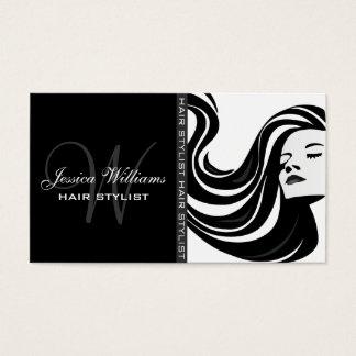 Modern Hair Stylist Business Card