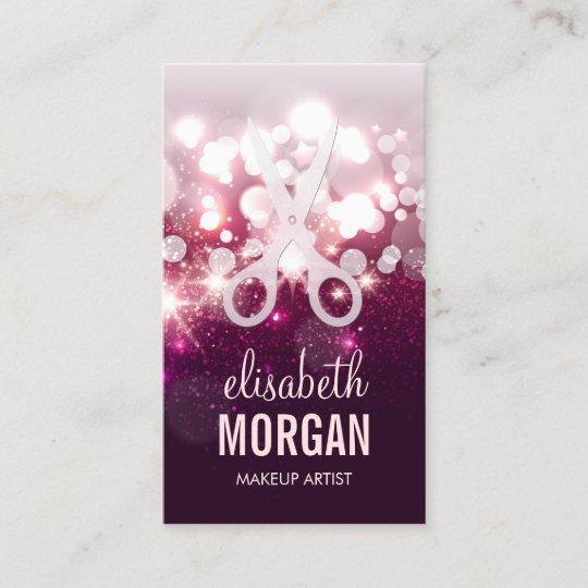 Modern hair stylist pink glitter sparkle business card zazzle modern hair stylist pink glitter sparkle business card colourmoves