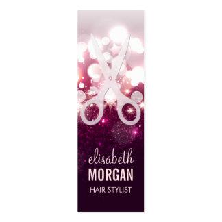 Modern Hair Stylist - Pink Glitter Sparkle Mini Mini Business Card