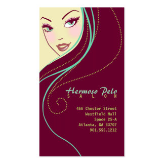 Modern Hair Stylist Salon Business Card