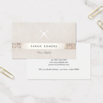 Modern Hair Stylist Scissors FAUX Sequin Salon Business Card