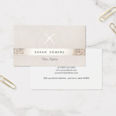 Modern Hair Stylist Scissors Faux Sequin Salon Business Card at Zazzle