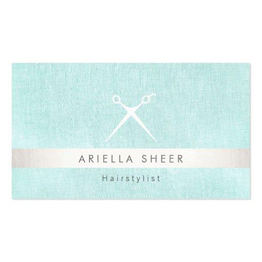 Modern hairstylist scissors logo turquoise salon business for Salon turquoise