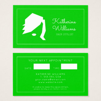 Modern Hairstylist With Appointment Business Card
