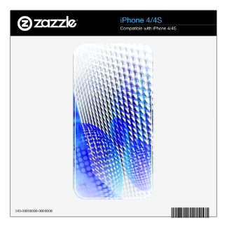 MODERN HALFTONE ABSTRACT blblc iPhone 4S Skin