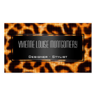 Modern Halftone Leopard Professional Business Card Business Cards