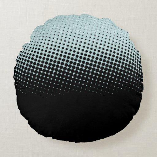 Modern halftone round pillow Zazzle