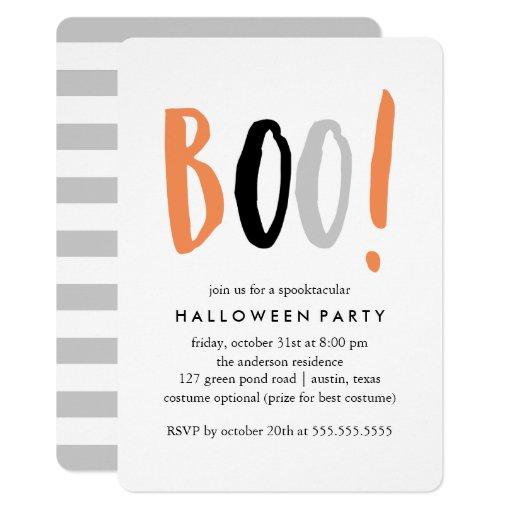 Modern Halloween Celebration Card