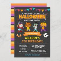 Modern Halloween Kids Costume Party Invitation
