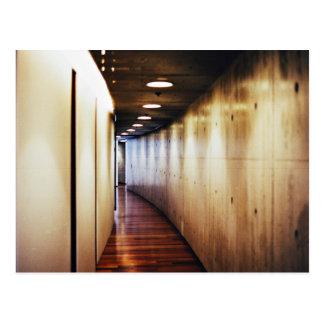 modern hallway corridor postcard