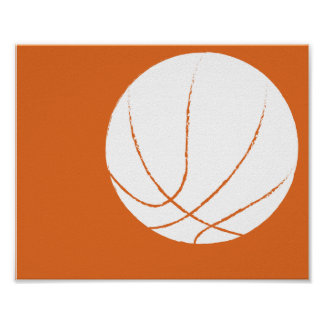 Modern Hand Painted Basketball Art - 1 of 6 Poster