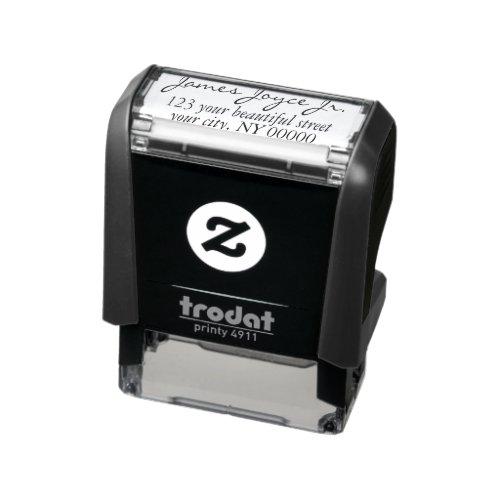 Modern Handwritten Stylish Return Address Self_inking Stamp