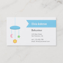 Modern Hanger Toys Babysitting Business Cards