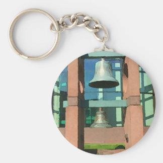 Modern Hanging Artistic Bell Photomanipulation Keychain