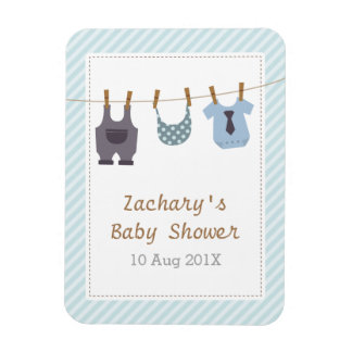 Modern Hanging Baby Clothes Baby Boy Shower Magnet
