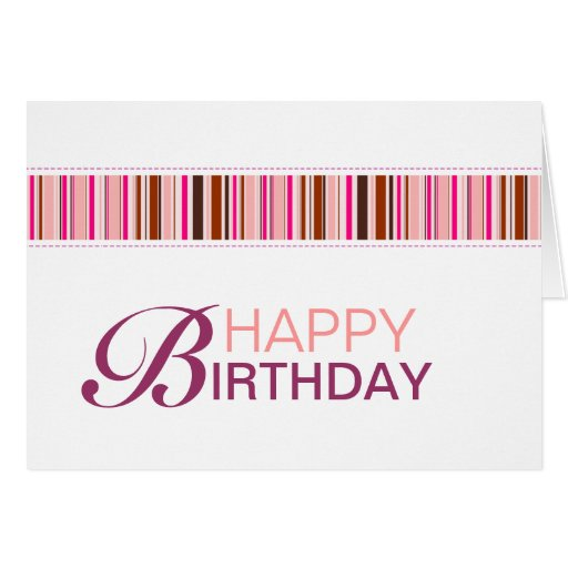 Modern Happy Birthday Card | Zazzle: www.zazzle.com/modern_happy_birthday_card-137800811718706804