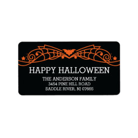 Modern Happy Halloween Bat Return Address