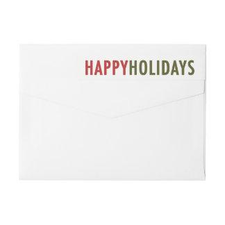 Modern Happy Holiday Wraparound Address Label