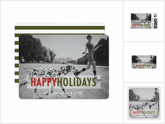 Modern Happy Holidays Photo Card Collection