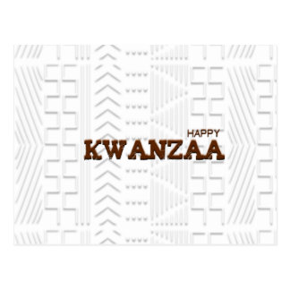 Modern Happy Kwanzaa Brown Post Card