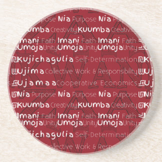 Modern Happy Kwanzaa Drink Coaster