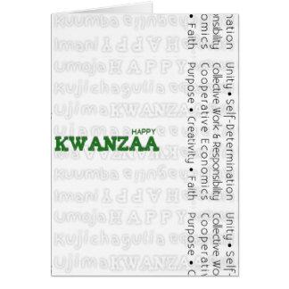 Modern Happy Kwanzaa Green Card