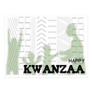 Modern Happy Kwanzaa Green Postcards