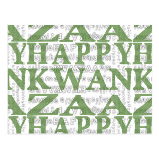 Modern Happy Kwanzaa Green Post Card