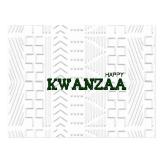 Modern Happy Kwanzaa Green Post Cards