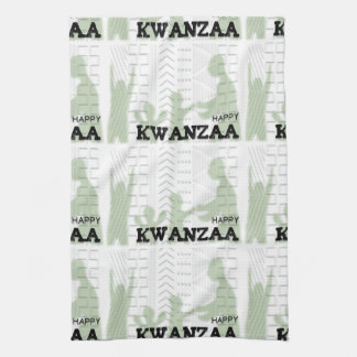 Modern Happy Kwanzaa Green Towel