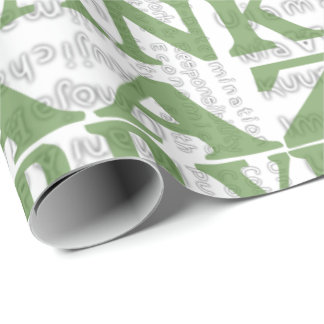 Modern Happy Kwanzaa Green Wrapping Paper