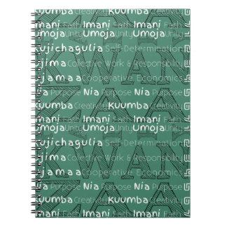 Modern Happy Kwanzaa Notebook