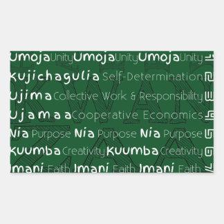 Modern Happy Kwanzaa Rectangular Sticker