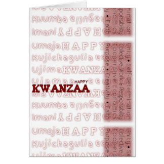 Modern Happy Kwanzaa Red Card